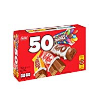NESTLÉ MINIS Assorted bars - KITKAT, COFFEE CRISP, AERO, SMARTIES - (Pack of 50 mini bars)