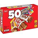 NESTLÉ Mini Assorted Chocolate & Candy - KITKAT, Coffee Crisp, Aero, Smarties - 505 g (Pack of 50 Mini Bars)