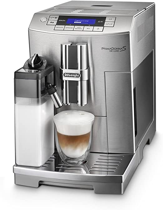 DeLonghi PrimaDonna S De Luxe Independiente Máquina espresso 1.8L Acero inoxidable - Cafetera (Independiente, Máquina espresso, Acero inoxidable, Acero inoxidable, Botones, 1,8 L): Amazon.es: Hogar