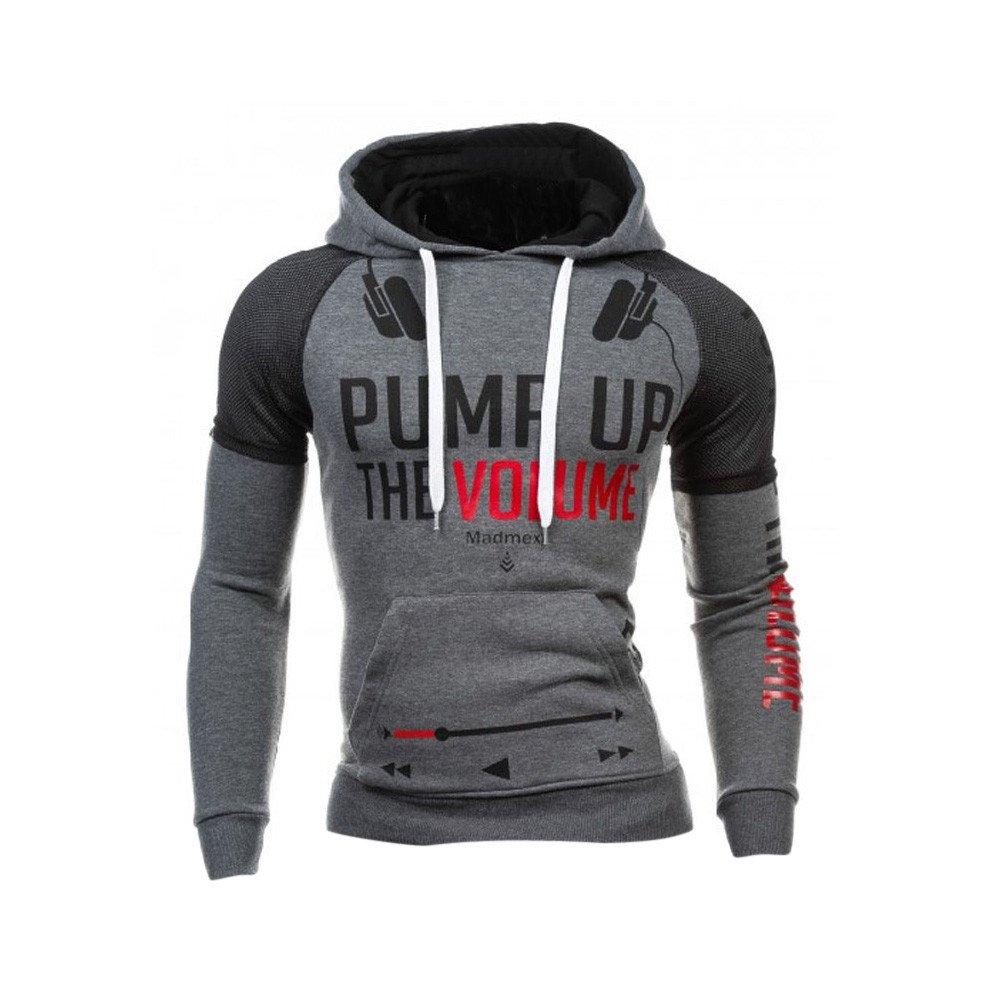 REYO Men's Winter Stylish Blend Sale, Men Winter Warm Sweater Printed Hoodie Hooded Sweatshirt Coat Jacket Outwear