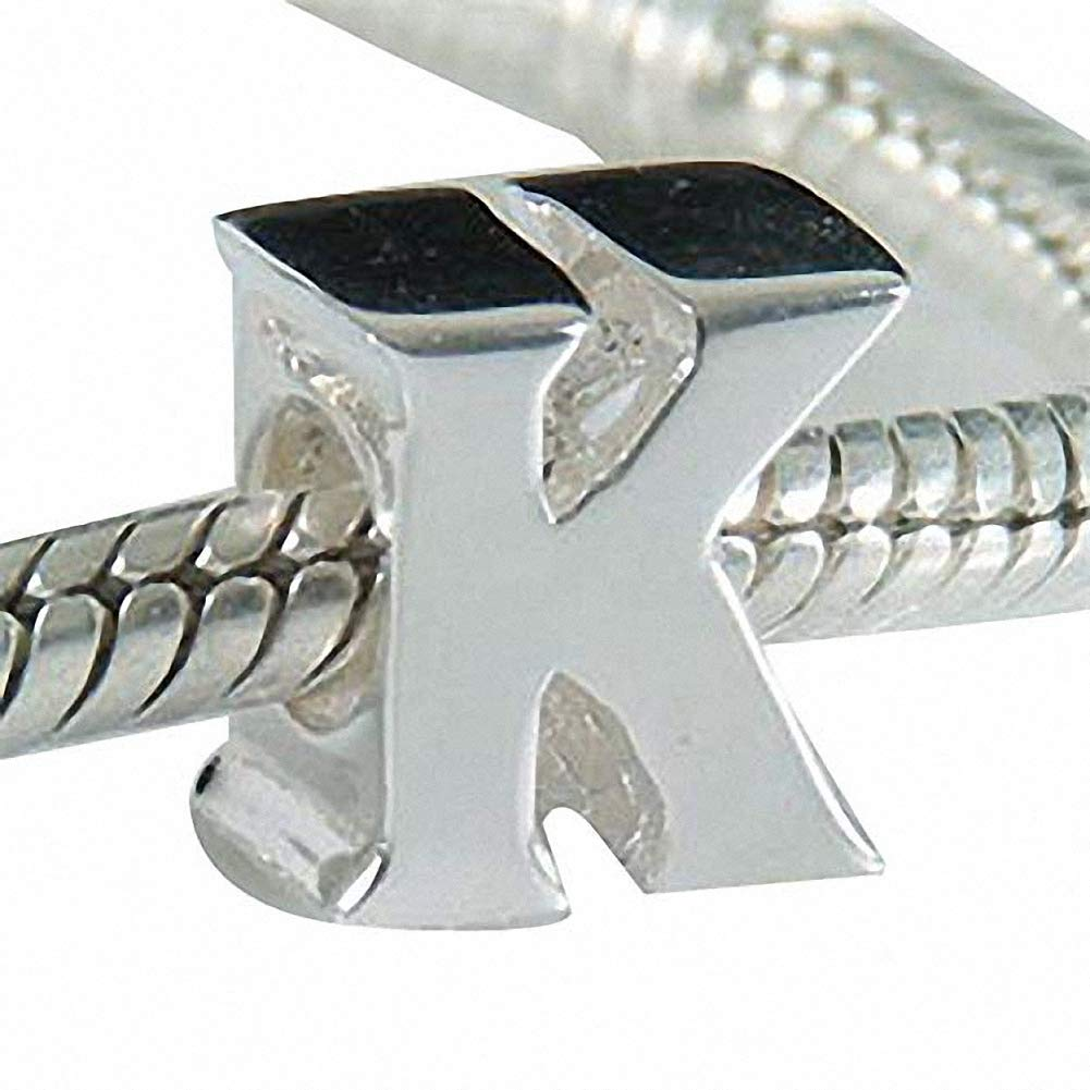 CharmsJewelry-925-Sterling-Silver-Letter-Initial-A-Z-Alphabet-Charm-Bead-Fits-Charms-BraceletNecklace