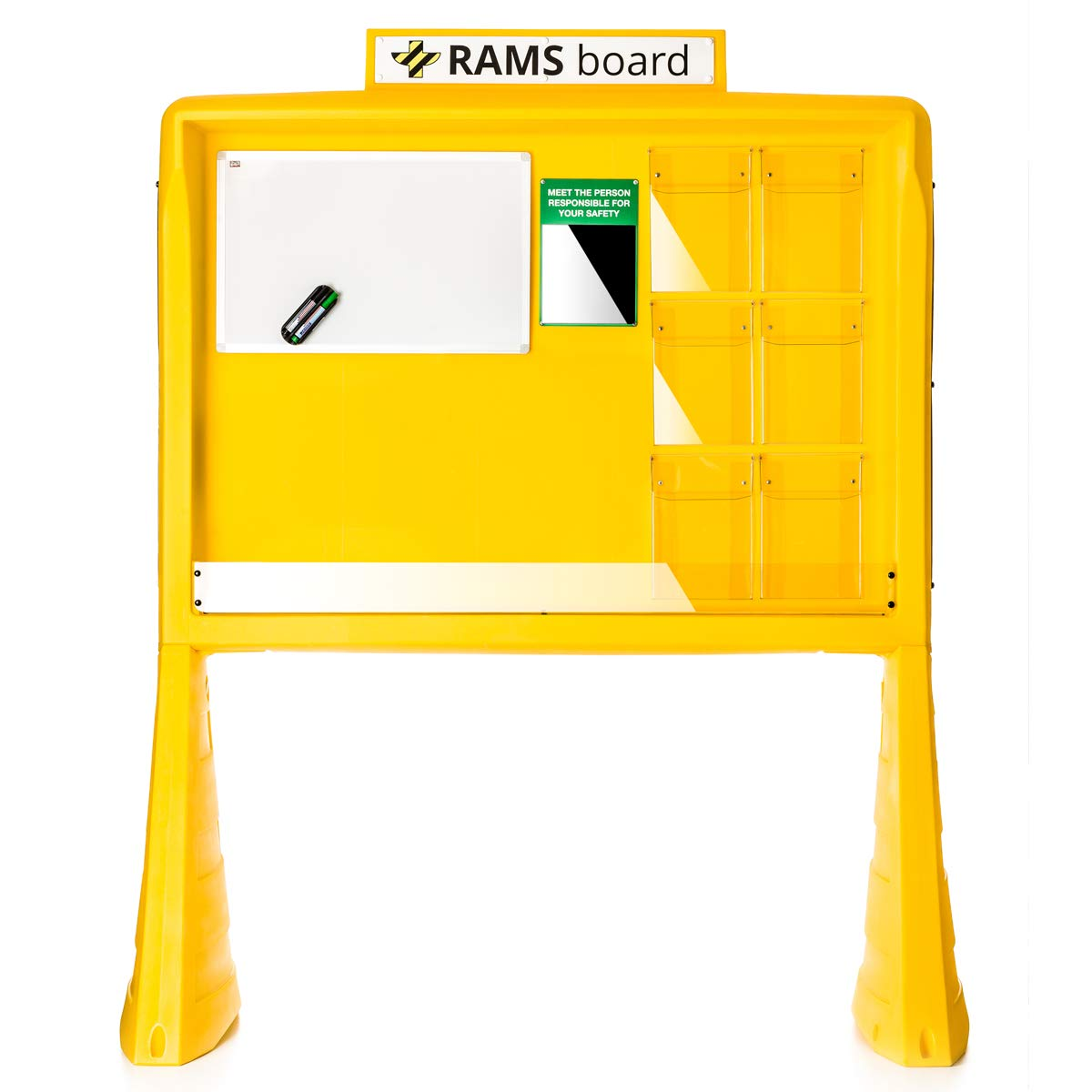 Accuform PBR101YL RAMS Board Safety and Notice Board, Yellow