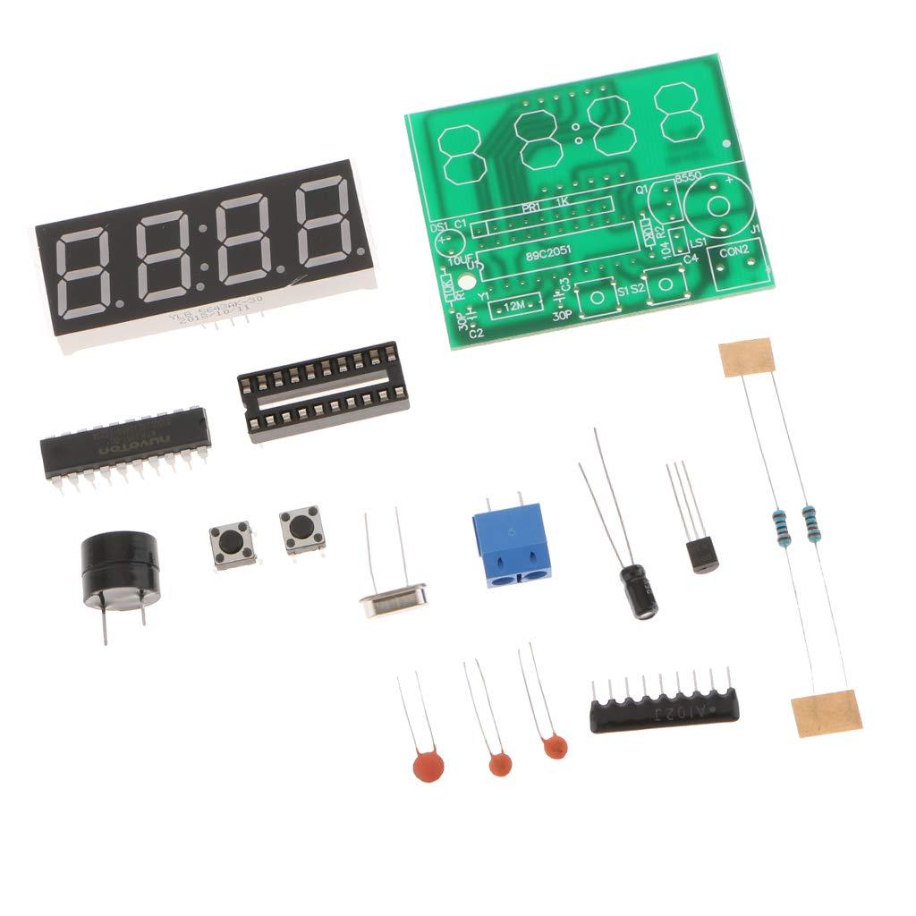perfeclan Kits De Alarma De Reloj Electrónico LED PCB Bricolaje Placa De Circuito Digital Establecido 4 Dígitos: Amazon.es: Bricolaje y herramientas