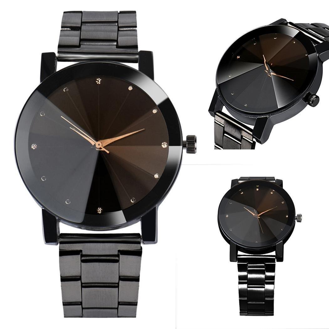 dozenla Men Quartz Analog Dial Watch Automatic Fashion Casual Stainless Steel Wristwatches