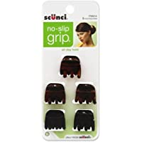 SCUNCI No-Slip Grip Jaw Clips, 5 ea (Pack of 4)