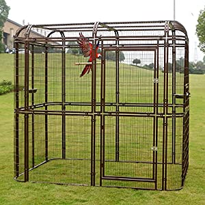 4. Bestmart INC Extra Large iron Wire Walk-in Bird Aviary