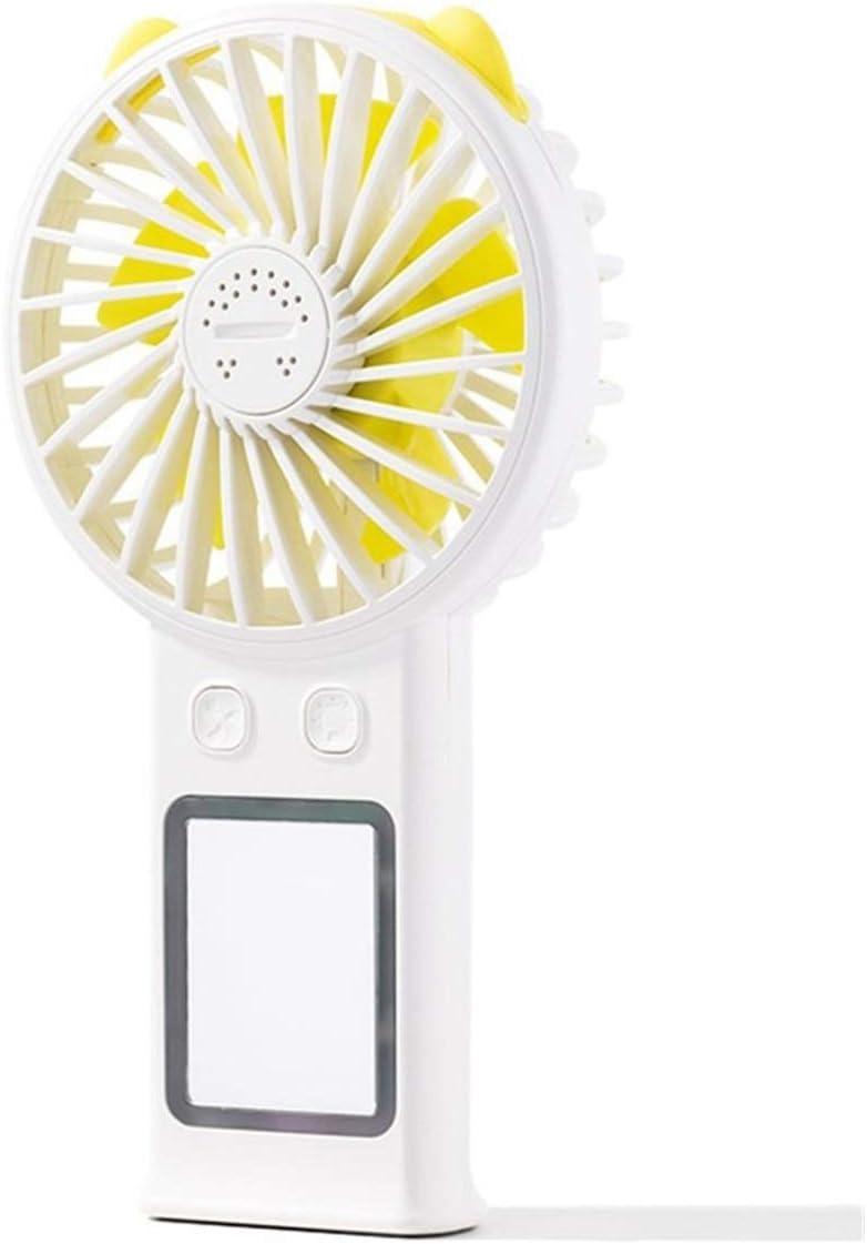 Color : Blue XIAOF-FEN Beauty Mirror Fan Fill Light Portable USB Charging Fan Handheld Mini Fill Light Mirror Fan USB Fan