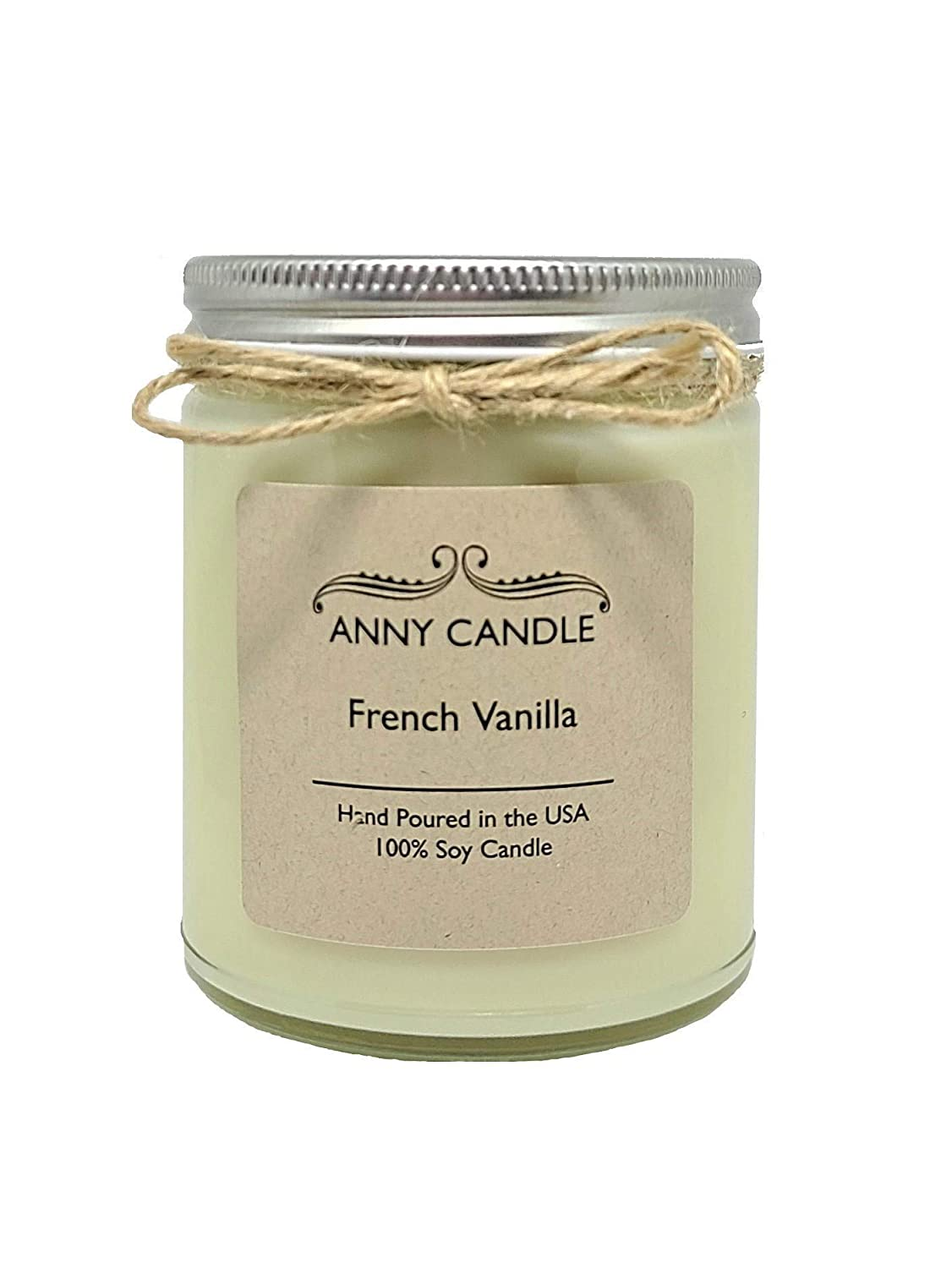 Amazon Com Anny Candle French Vanilla Scented 9 Oz Straight Sided Jar Candle 100 Soy Wax Handmade