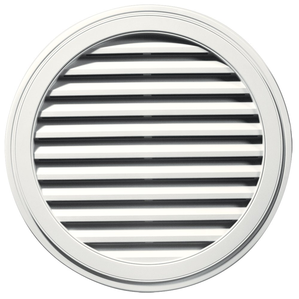 Builders Edge 120033636123 36'' Round Vent 123, White by Builders Edge (Image #1)