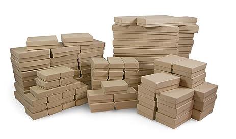 Amazoncom Cotton Filled Jewelry Box Assortment in Kraft Home