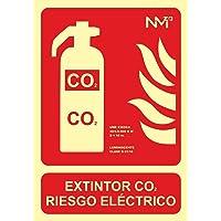 Normaluz RD00105 - Señal Luminiscente Extintor Co2 Riesgo