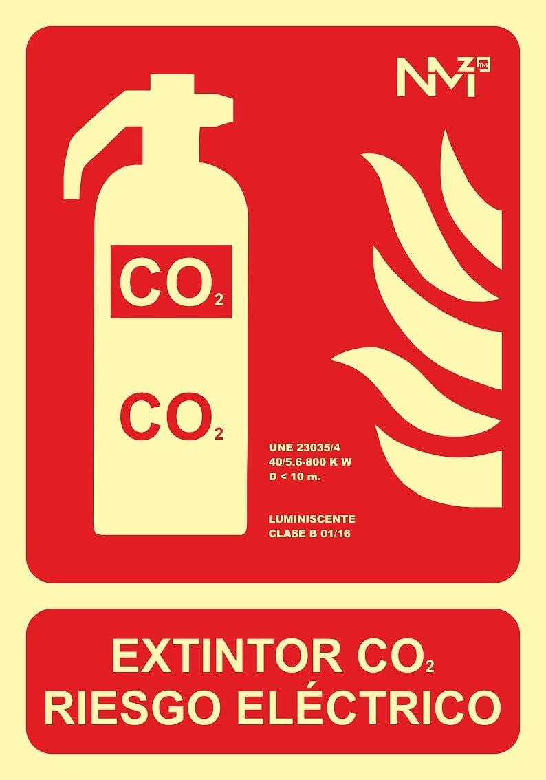 NM RD00105 - Señal Luminiscente Extintor Co2 Riesgo ...