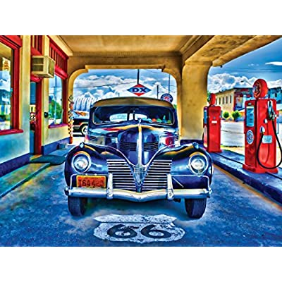 MasterPieces Wheels Collection Kicks on Route 66 Jigsaw Puzzle, 1000-Piece: Toys & Games