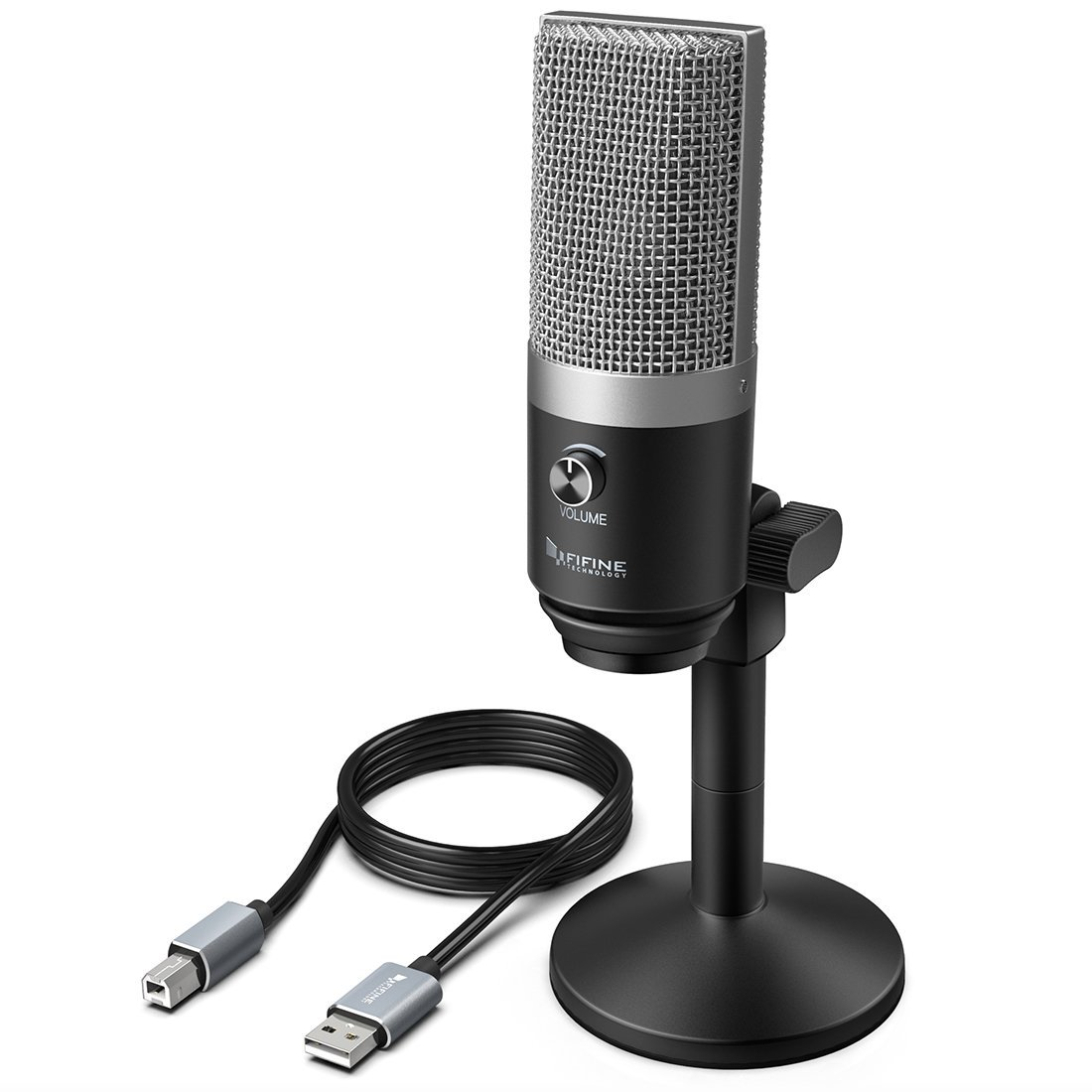 USB Microphone,FIFINE PC Microphone for Mac and Windows Computers,Optimized for Recording,Streaming Twitch,Voice overs,Podcasting for Youtube,Skype chats.(K670)