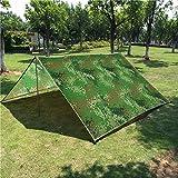 Camping Tarp 10 x 10 FT Waterproof Sunshade Tarp Cover Tent Shelter Camping Tarpaulin (Camo 10x10 FT)