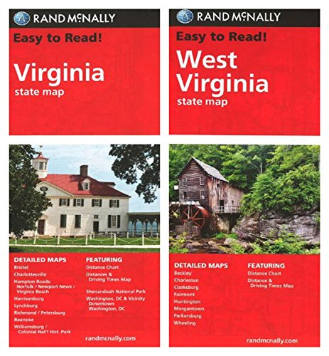 Rand McNally State Maps: Virginia and West Virginia (2 Maps)