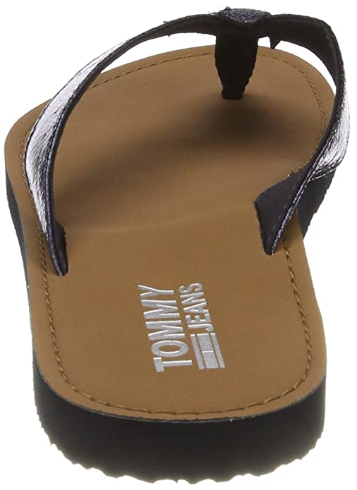 Hilfiger Denim Damen Glitter Beach Sandal Zehentrenner, Silber (Silver 000), 36 EU