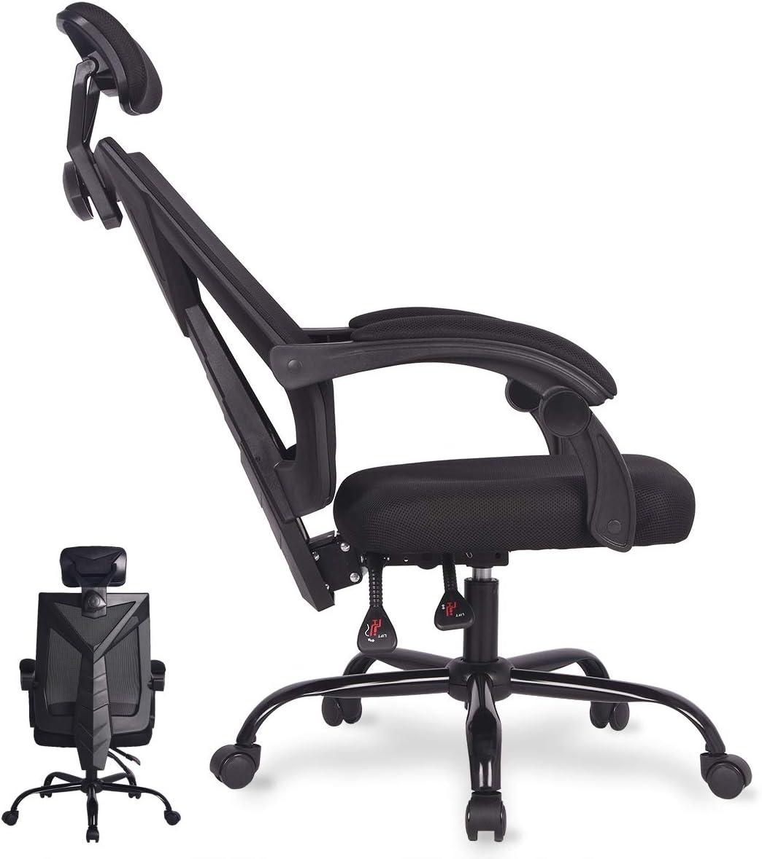 Office Computer Desk Chair Ergonomic High Back Swivel Task Gaming Chair Adjustable Seat,Cushion Headrest,Breathable Mesh Back