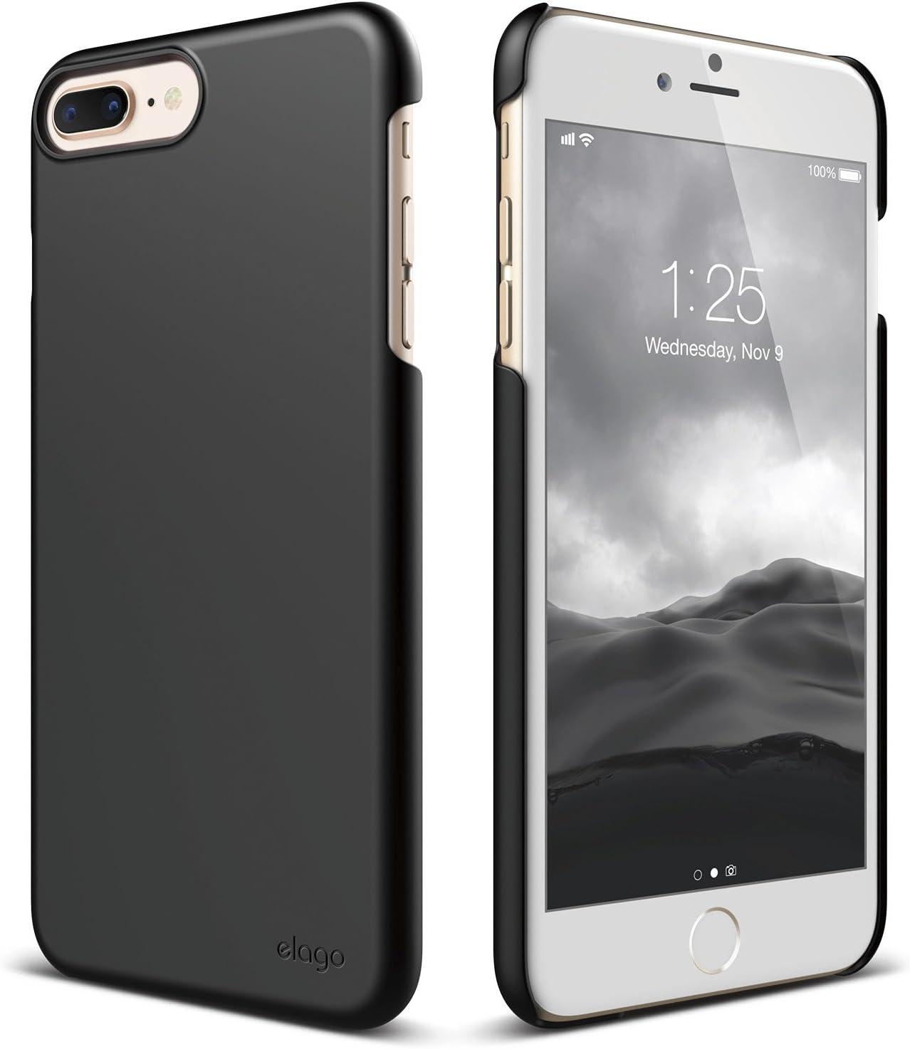 Amazon Com Elago Iphone 8 Plus Iphone 7 Plus Case Slim Fit 2 Black Light Minimalistic True Fit