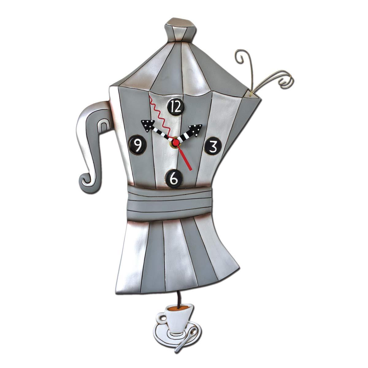 Allen Designs P6180 - Reloj de pared gris (cafetera)- 37.5x24 cm ...