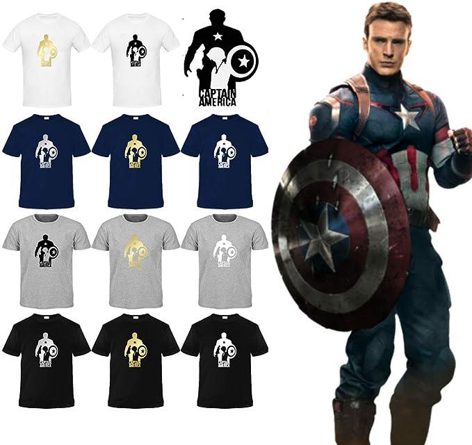 The Leather Empire Camiseta de algodón Ligero de Capitán América ...