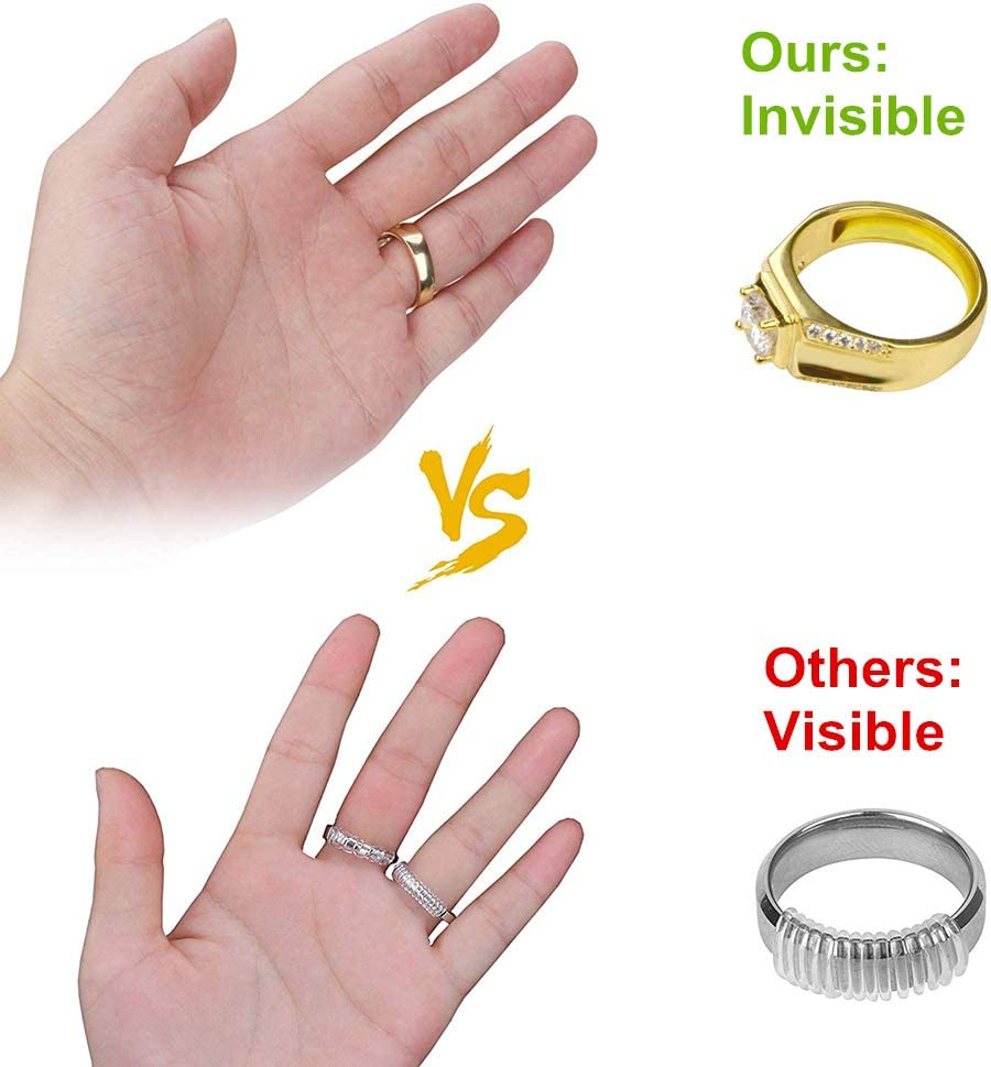 8Pcs Ring Size Adjuster for Loose Rings for Loose Rings B Invisible Clear Transparent Sizer Pads Size Reducer Ring Guard Jewelry Tools for Men Women