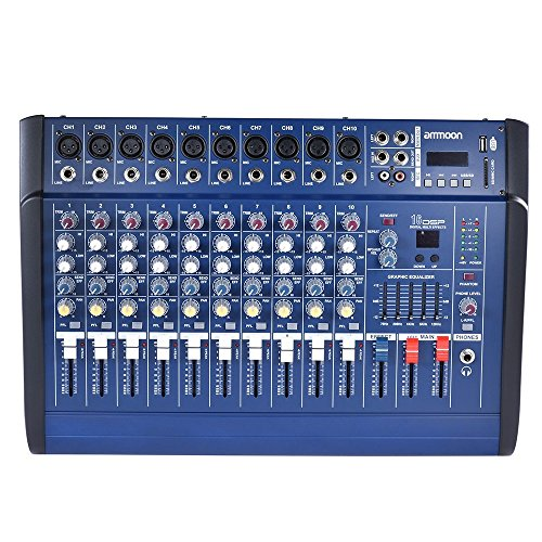 ammoon 10 Channels Powered Mixer Amplifier Digital for sale  Delivered anywhere in Canada