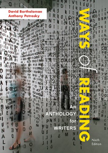 ways of reading an anthology for writers essay