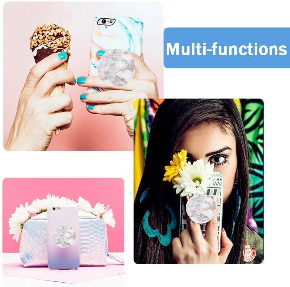 Grey Platinum Multi-Function Mounts and Stands Expanding Stand Grip Mount Socket for Smartphones iPhone and Tablets
