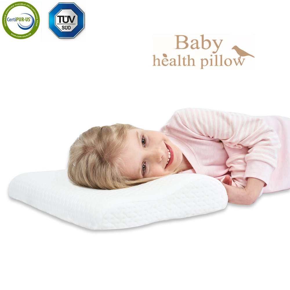 gfm Memory Foam Toddler Pillow,Breathable Kids Contour Pillows For Sleeping(18.11x10.63x2.76/1.97In)
