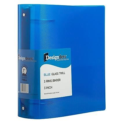 amazon com jam paper plastic 3 inch binder blue 3 ring binder