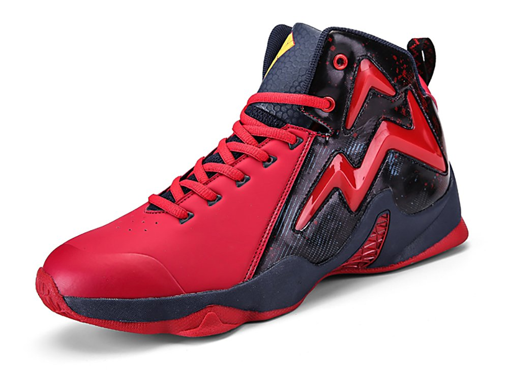 No.66 Town Men's Shock Absorption Running Sneaker Basketball Shoes B0793W2612 8.5 D(M) US|Red