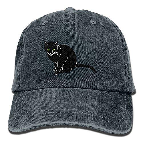 Noir Vintage Hat - Buecoutes Noir Cat Cowboy Hat Vintage Chic Denim Baseball Caps Trucker Hats