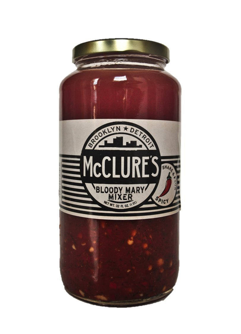 McClure's Bloody Mary Mixer, 4 x 32 Ounce Jars by McClure's Pickles