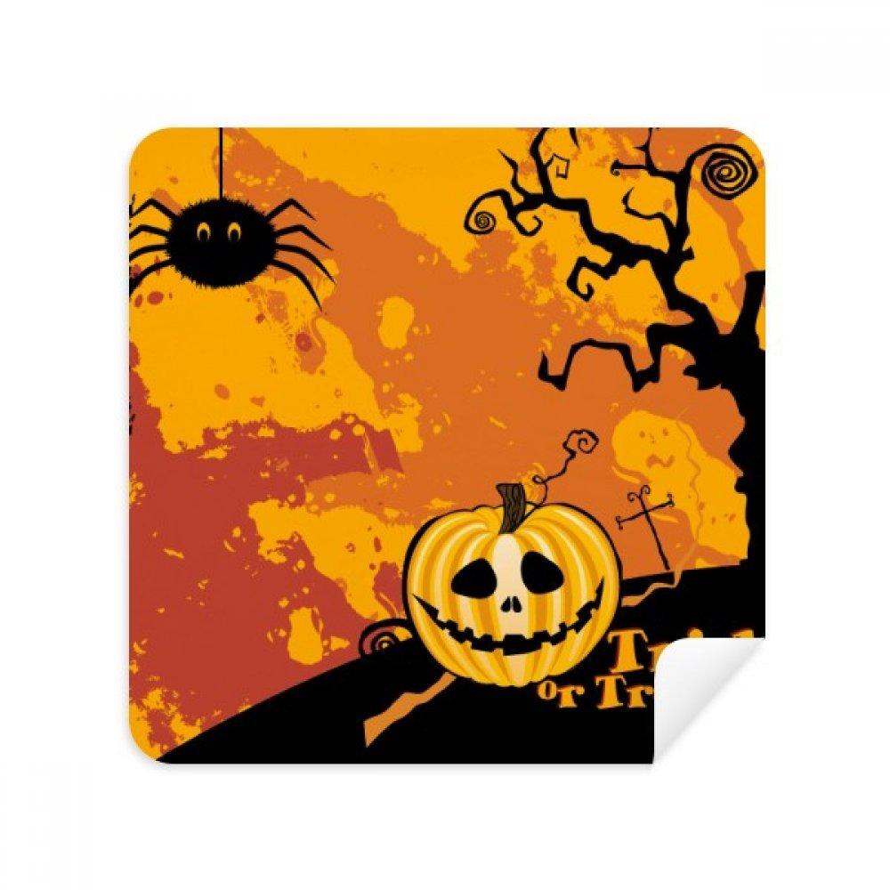 ゴースト恐怖ハロウィンパンプキンメガネクリーニングクロス電話画面クリーナースエードファブリック2pcs   B07C958H43