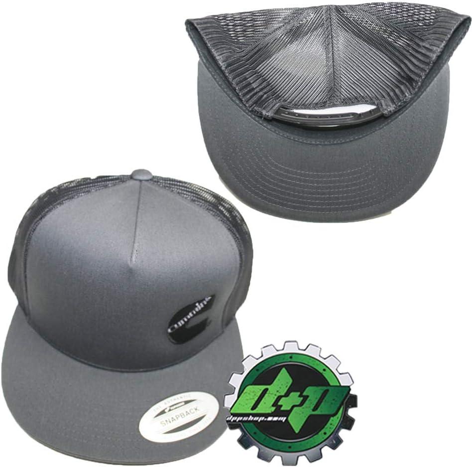 Diesel Power Plus Dodge Cummins Charcoal Trucker Black mesh snap Back hat Cap Flat Bill Snapback