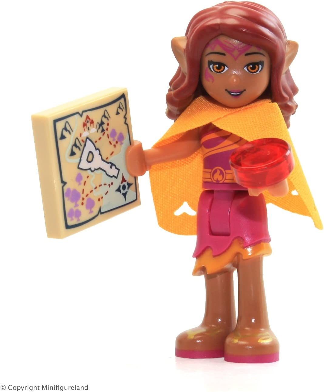 LEGO Elves Minifigure - Azari Firedancer (w/ Cape) from Set 41077