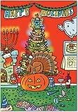 NobleWorks 'All of Them Makowski Cartoon': Humorous Christmas Greeting Card With Envelope (5758)