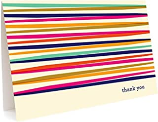 product image for Night Owl Paper Goods Party Lines Folded Thank You Cards, Box Of 6
