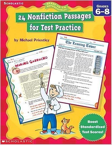 24 Nonfiction Passages For Test Practice Grade