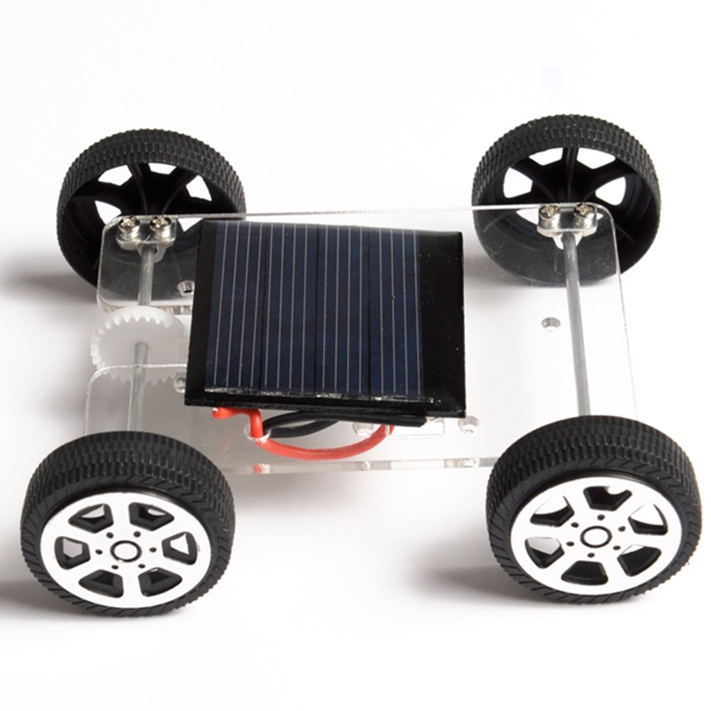 MagiDeal 2 Pieces DIY Assemble Toy Set Solar/&Wind Powered Cars Educational Models for Kid