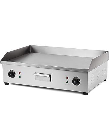 Olibelle 4400W Plancha de Table Electrique en Inox Barbecue Professionnel  Electrique Grill Viande pour Cuisine Jardin ddfd7d10275b