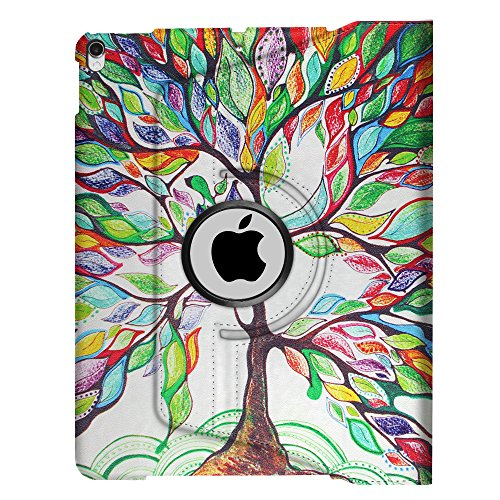 Fintie iPad Pro 10.5 Keyboard Case - 360 Degree Rotating Stand Cover Built-in Wireless Bluetooth Keyboard Apple iPad Pro 10.5 inch 2017 Tablet, Love Tree by Fintie (Image #8)