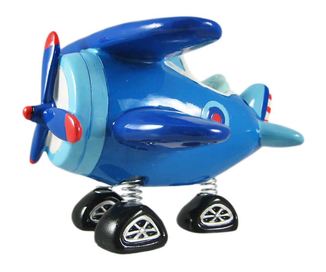 ブルー複葉機Bobble Piggy Bank複葉機   B0078V78OU
