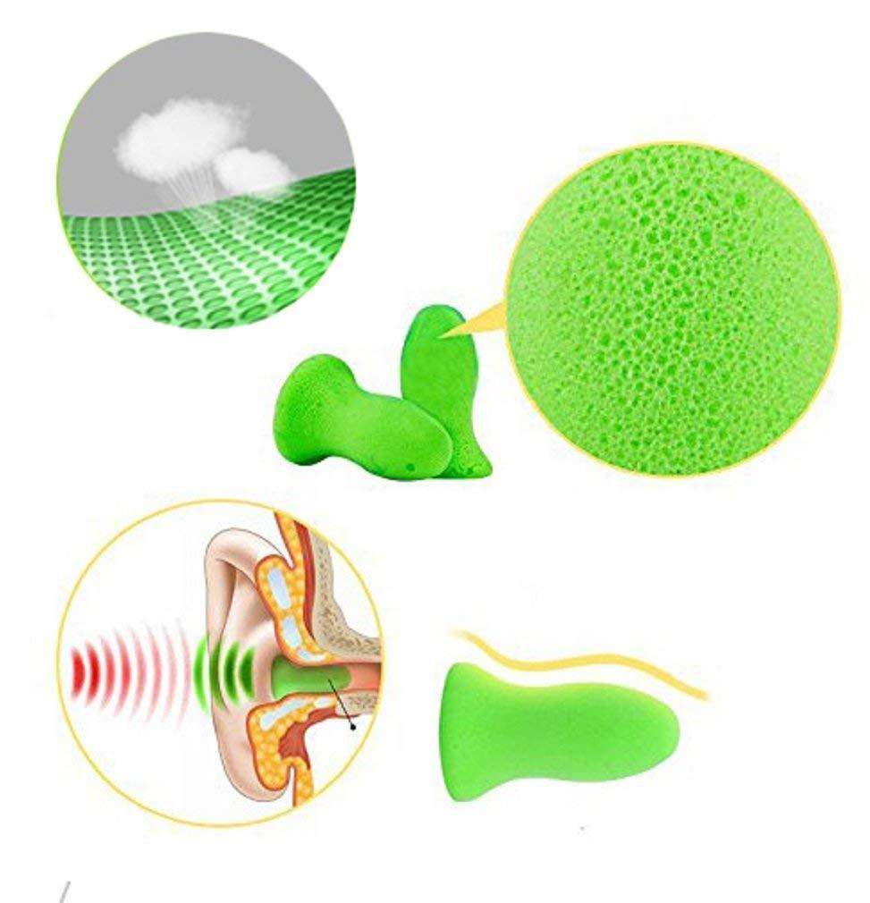 KAIMENG Reusable Sleep Earplugs for Noise Reduction Highest 48.4dB NRR Foam Hearing Protection Ear Shield for Sleeping Travel Work Snoring 3 Pairs