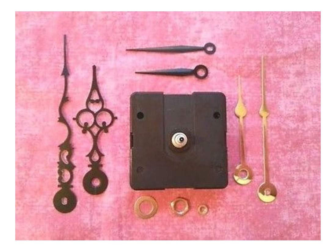 Short Shaft Battery Quartz Clock Movement Kit! - with 3 Pairs of Hands! (982)