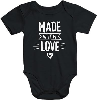 Baby-Body Made with Love Herz kurzarm Bio-Baumwolle Aufdruck Moonworks®