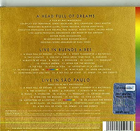 Live In Buenos Aires, Live in Sao Paulo, A Head Full of Dreams : Coldplay, Coldplay: Amazon.es: Música
