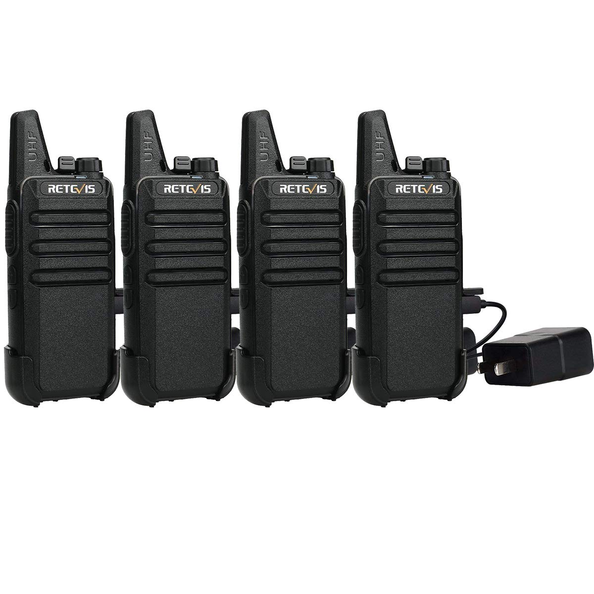 Retevis RT22 Two Way Radio Rechargeable Walkie Talkies 16 CH VOX FRS Radio Small with Emergency Alarm Chanel Lock(4 Pack)