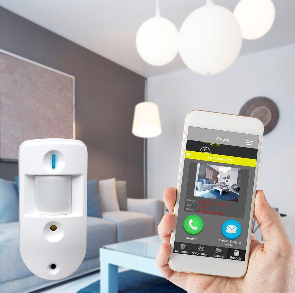 Blaupunkt Q3200 Sistema de Alarma inteligente IP sin cuota mensual e inalámbrica con domótica y control remoto.